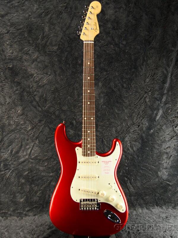 Fender Made In Japan Hybrid 60s Stratocaster Candy Apple Red 新品 《レビューを書いて特典プレゼント!!》[フェンダージャパン][ハイブリッド][キャンディアップルレッド,赤][ストラトキャスター][Electric Guitar,エレキギター]