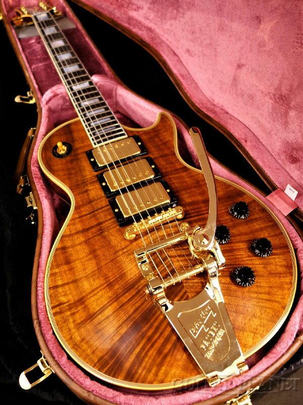 【現地選定材使用!!】Gibson Custom Shop ~Custom Crimson~ 1957 Les Paul Custom 3PU ''Koa Top'' Bigsby Vintage Gloss -Antique Natural- 新品[ギブソンカスタムショップ][コア][ナチュラル][レスポールカスタム][Electric Guitar,エレキギター]