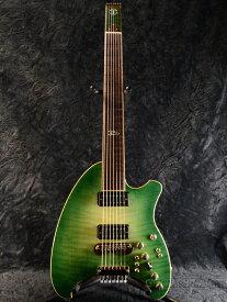 【御委託品中古】Timtone Custom Guitars Custom T4-7 2000年代製[Tim Diebert][7strings,7弦][Headless,ヘッドレス][Green,グリーン,緑][Electric Guitar,エレキギター]【used_エレキギター】