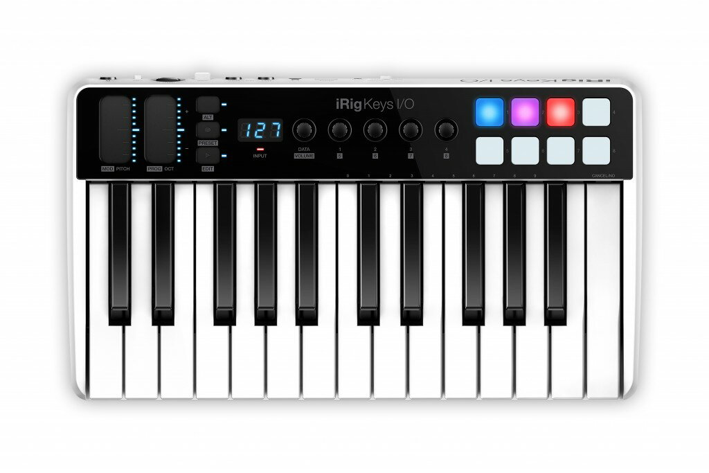 iRig Keys I/O 25 IK Multimedia 新品 25鍵盤 MIDIキーボード[IKマルチメディア][アイリグ][iPhone/iPod Touch/iPad用][MIDI Keyboard]