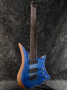 C.GIG Y-REF 7 Doublecut -Trans Blue- 新品[トランスブルー,青][ダブルカッタウェイ][7strings,7弦][Headless,ヘッドレス][Electric Guitar,エレキギター]