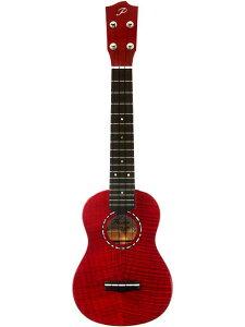 【限定モデル】Peerless PUK-C FM PT -ハイビスカスレッド- 新品 コンサートウクレレ[KIWAYA,ピアレス,キワヤ][Red,赤][Maple,フレイムメイプル][Concert Ukulele]