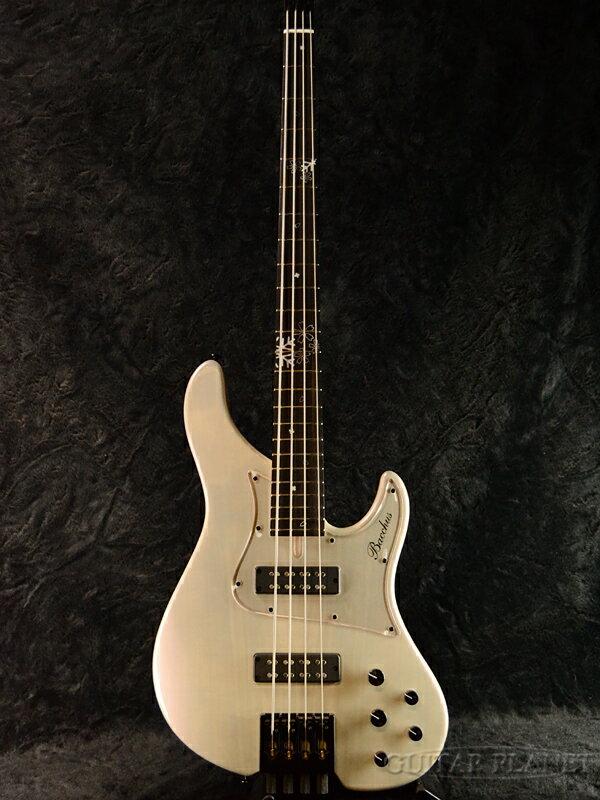 【Headless Bass】Bacchus WOODLINE4-HL24/Fuyuzakura-MF'18 新品[バッカス][国産/日本製][ウッドライン][White,ホワイト冬桜,木目,白][ヘッドレス][ナチュラル][Electric Bass,エレキベース]