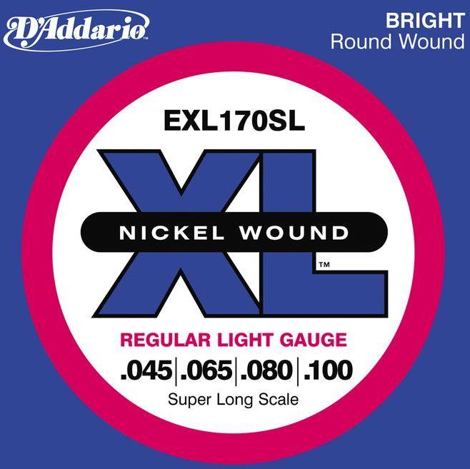 D'Addario 45-100 EXL170SL Regular Light スーパーロングスケール[ダダリオ][レギュラーライト][Nickel Round Wound,ニッケルラウンドワウンド][Super Long Scale][ベース弦,String]