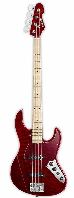 Edwards E-AM-150QM 新品 ブラックチェリー[エドワーズ][ESPブランド][国産][Jazz Bass,ジャズベースタイプ][Black Cherry,Red,レッド,赤][Electric Bass,エレキベース]