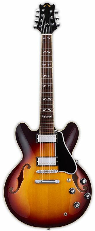 Edwards E-TC-7ST Tabacco Sunburst 新品[エドワーズ][国産][ESPブランド][7strings,7弦][Seymour Duncan,ダンカンピックアップ搭載][タバコサンバースト][セミアコ][Electric Guitar,エレキギター]