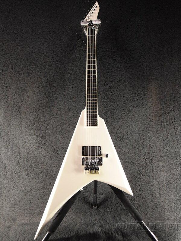 【中古】Edwards KRV-Custom -White- 2007年製[エドワーズ][ESPブランド][ホワイト,白][Flying V,フライングVタイプ][Electric Guitar]【used_エレキギター】