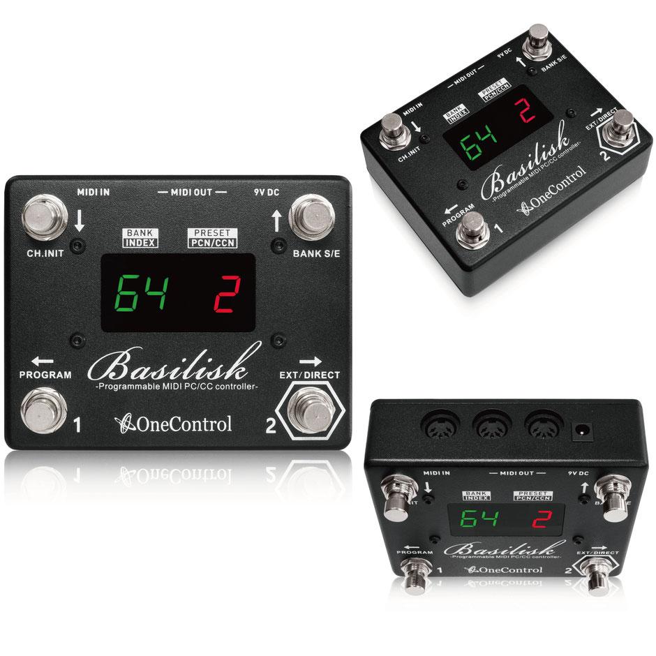 One Control Basilisk 新品 MIDIスイッチ[ワンコントロール][バジリスク][コントローラー][Effector,エフェクター]
