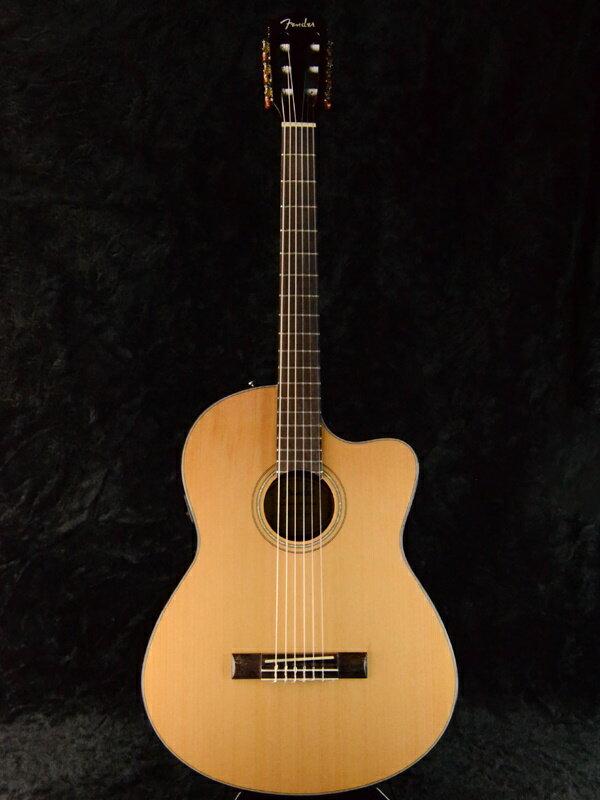 Fender CN-140SCE Natural 新品[フェンダー][ナチュラル][Classic Guitar,クラシックギター,エレガット][CN140SCE]