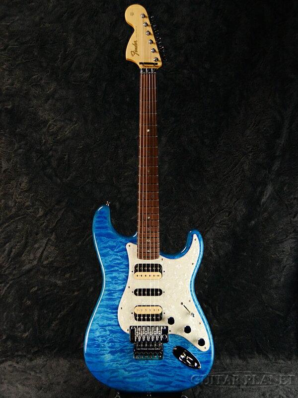 Fender Michiya Haruhata Stratocaster -Caribbean Blue Trans- 新品[フェンダージャパン][春畑道哉,TUBE][ブルー,青][ストラトキャスター][Electric Guitar,エレキギター]