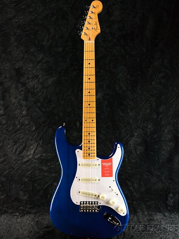 Fender Made In Japan Traditional 58 Stratocaster Sapphire Blue Transparent 新品 《レビューを書いて特典プレゼント!!》[フェンダージャパン][トラディショナル][ブルー,青][ストラトキャスター][Electric Guitar,エレキギター]