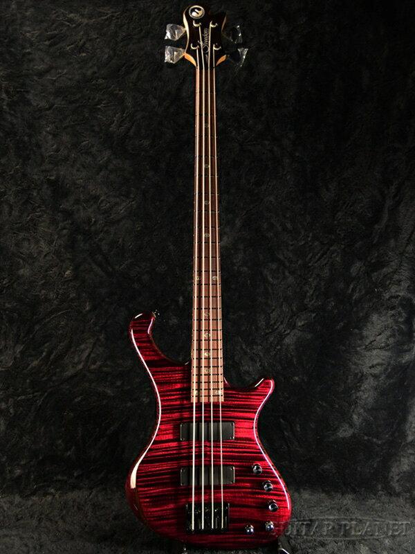 【サウンドメッセ出品モデル】Freedom Dulake Flat 4st -AZK- 新品[フリーダム][国産][4strings,4弦][Red,レッド,赤][Electric Bass,エレキベース]