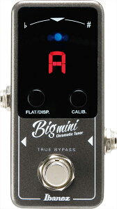 Ibanez BIGMINI 新品 エレキギター&ベース用ペダルチューナー[アイバニーズ][ビッグミニ][Pedal Tuner][Effector,エフェクター]