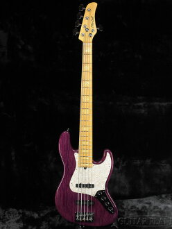 Mike Lull M5V-Trans Purple-新货[我的克鲁尓][Jazz Bass,JB,爵士基础型][5弦][穿过紫,紫色][Electric Bass,电子吉他基础]