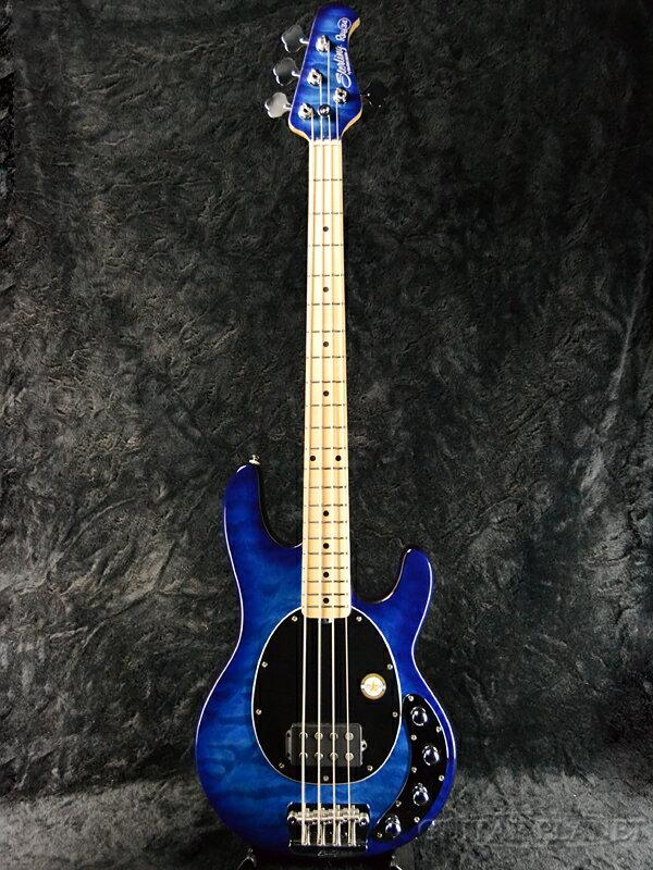 【アウトレット大特価!!】Sterling by MusicMan Ray34QM -Neptune Blue/M- 新品[スターリン][ミュージックマン][Stingray,スティングレイ][ブルーバースト][Electric Bass,エレキベース]