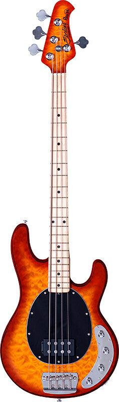 【ERNIE BALL弦プレゼント】Sterling by MusicMan Ray34QM -Honey Burst- 新品[スターリン][ミュージックマン][Stingray,スティングレイ][ハニーバースト,サンバースト][Electric Bass,エレキベース]