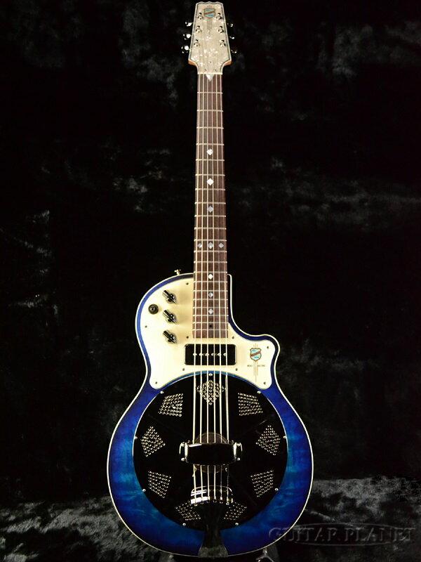 National Blue Resolectric 新品 P-90搭載[ナショナル][リゾレクトリック][ブルー,青][Resonator,リゾネーター][ピックアップ搭載][Acoustic Guitar,アコースティックギター,アコギ]