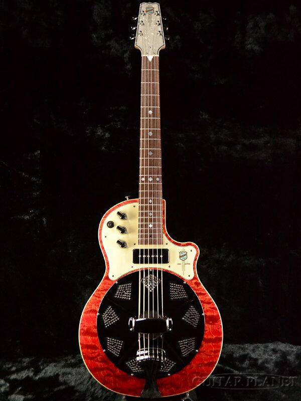 National Red Resolectric 新品 P-90搭載[ナショナル][リゾレクトリック][レッド,赤][Resonator,リゾネーター][ピックアップ搭載][Acoustic Guitar,アコースティックギター,アコギ]