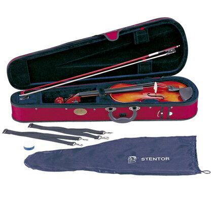 【弓/松脂/ケース付】STENTOR SV-180 1/8 新品 バイオリンセット[ステンター][Violin,ヴァイオリン][初心者/入門用][分数]