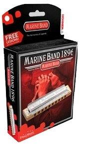 HOHNER Marine Band 1896/20 メジャー調 10ホールハーモニカ 新品 ハードケース付[ホーナー][マリンバンドクラシック][Harmonica][10穴][ブルースハープ][Major Key]