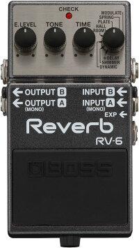【最大10倍】【送料無料】BOSSRV-6DigitalReverb新品リバーブ[ボス][デジタル][Effector,エフェクター][RV6]