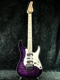 阿德諾博士 SD-DX-24 為 PRSB/M 灰體全新紫色 [謝克,紫色,紫色絎縫楓、 被套楓吉他,開始施法者類型電吉他,電吉他