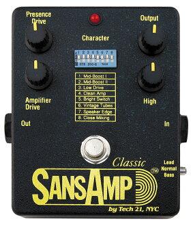 TECH21 SansAmp 经典全新过载 / 失真 [科技 21],[sansamp] [经典] [模拟器/超速放大器,失真,DI-盒] [效应器和效应器]