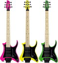 Traveler Guitar Vaibrant Standard V88S 新品[トラベラー][ヴァイブラントスタンダード][ピンク,イエロー,グリーン][Electric Guitar,…