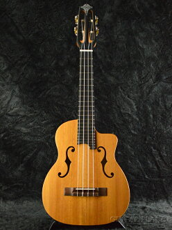 Dupont UK-100 Custom F-Hole新货[杜邦][Mahogany,红木][全部单板][F礼堂][Tenor Ukulele,男高音尤克里里琴]