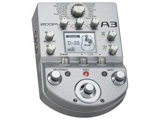 变焦 A3 全新声学吉他前置音箱和影响 [缩放] [前置放大器] [效应] 和 [原声吉他]