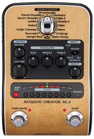 ZOOM AC-2 Acoustic Creator 新品 アコギ用プリアンプ[ズーム][Pre Amplifier][Effector,エフェクター][Acoustic Guitar][AC2]
