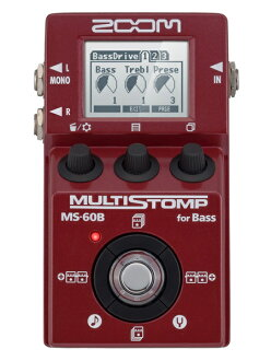 ZOOM MS-60B Multi Stomp for Bass brand new bass multi-effects [Zoom] and [MS60B], [マルチストンプ], and Mini Effector