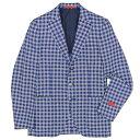 【SALE50%OFF】ISAIA(イザイア)SAILOR シルク ジャガード ブロックチェック シングル3Bジャケット 37071003035