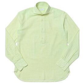 【40OFF】ORIAN(オリアン)リネン ソリッド プルオーバー ワイドカラーシャツ 02PU83