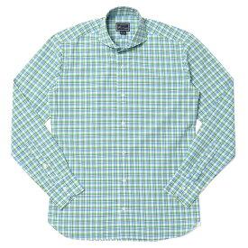 【SALE60OFF】ORIAN(オリアン)コットンタータンチェックウォッシュドワイドカラーシャツ 02Q528