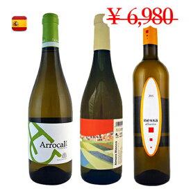 【スペインワイン3本セット】3地域で構成されたブドウ3品種 各1本クラシックな白ワインセット