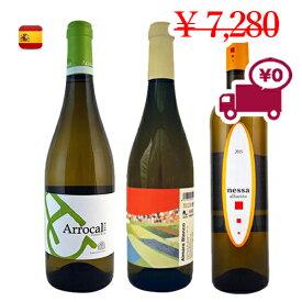 【スペインワイン3本セット】送料無料(沖縄・離島対象外)夏に美味しい お家ワイン フルーティ レモン 柑橘 さわやか 飲み比べ 特価 日本で当店のみ取扱い3地域で構成されたブドウ3品種 各2本クラシックな白ワインセット