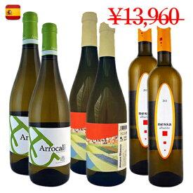 【スペインワイン6本セット】3地域で構成されたブドウ3品種 各2本クラシックな白ワインセット