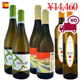 【スペインワイン6本セット】送料無料(沖縄・離島対象外)夏に美味しい お家ワイン フルーティ レモン 柑橘 さわやか 飲み比べ 特価 日本で当店のみ取扱い3地域で構成されたブドウ3品種 各2本クラシックな白ワインセット