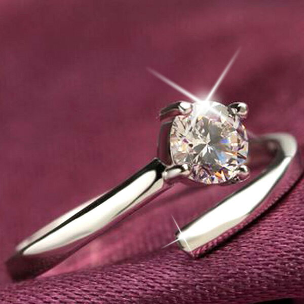 指輪 サイズフリー/一粒 リング/指輪/レディース/プラチナ仕上げ/シルバー925 人気