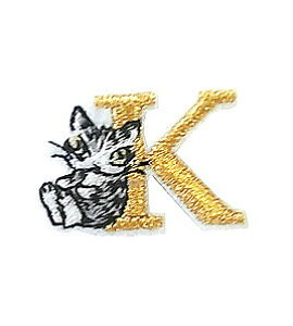 【わちふぃーるど】猫のダヤン アップリケ刺繍ステッカーダヤン・Kネコ ねこ 雑貨 ☆☆☆☆