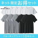 【送料無料】BODY WILD(ボディワイルド)/GUNZE(グンゼ)/ネット限定お得セット丸首Tシャツ10枚組(丸首)(紳士)/SETM038