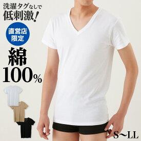 綿100% Vネック Tシャツ メンズ アンダー ウェア GUNZE グンゼ the GUNZE ザ・グンゼ 男性 肌着 下着 コットン THE GUNZE NEXTRA-COTTON 年間シャツ CK9015N インナー 半袖 無地 シンプル コットン 男性用 日本製 GUNZE11