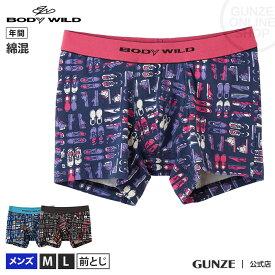 GUNZE(グンゼ)/BODY WILD(ボディワイルド)/ボクサーパンツ(前とじ)(メンズ)/BWG105J/M〜L 吸汗速乾
