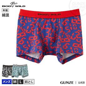 GUNZE(グンゼ)/BODY WILD(ボディワイルド)/ボクサーパンツ(前とじ)(メンズ)/BWG106J/M〜L 吸汗速乾
