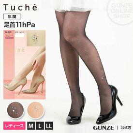 GUNZE(グンゼ)/Tuche(トゥシェ)/ストッキング(ワンポイント柄)(レディース)/TH618Y/M-L〜L-LL