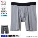 GUNZE(グンゼ)/YG(ワイジー)/ロングボクサー(前あき)(3分丈)(メンズ)/YV1590/M〜LL 抗菌防臭 カットオフ …