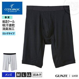 GUNZE(グンゼ)/COOLMAGIC(クールマジック)/ロングボクサー(前あき)(3分丈)(メンズ)/MC2485H/M〜LL/夏用 GUNZE11