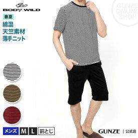 セール SALE アウトレット GUNZE(グンゼ)/BODY WILD(ボディワイルド)/セットアップ半袖半パンツ(メンズ)/BG3019W/M〜L 紳士 綿混 カジュアル 上下セット ルームウエア 春夏 GUNZE35