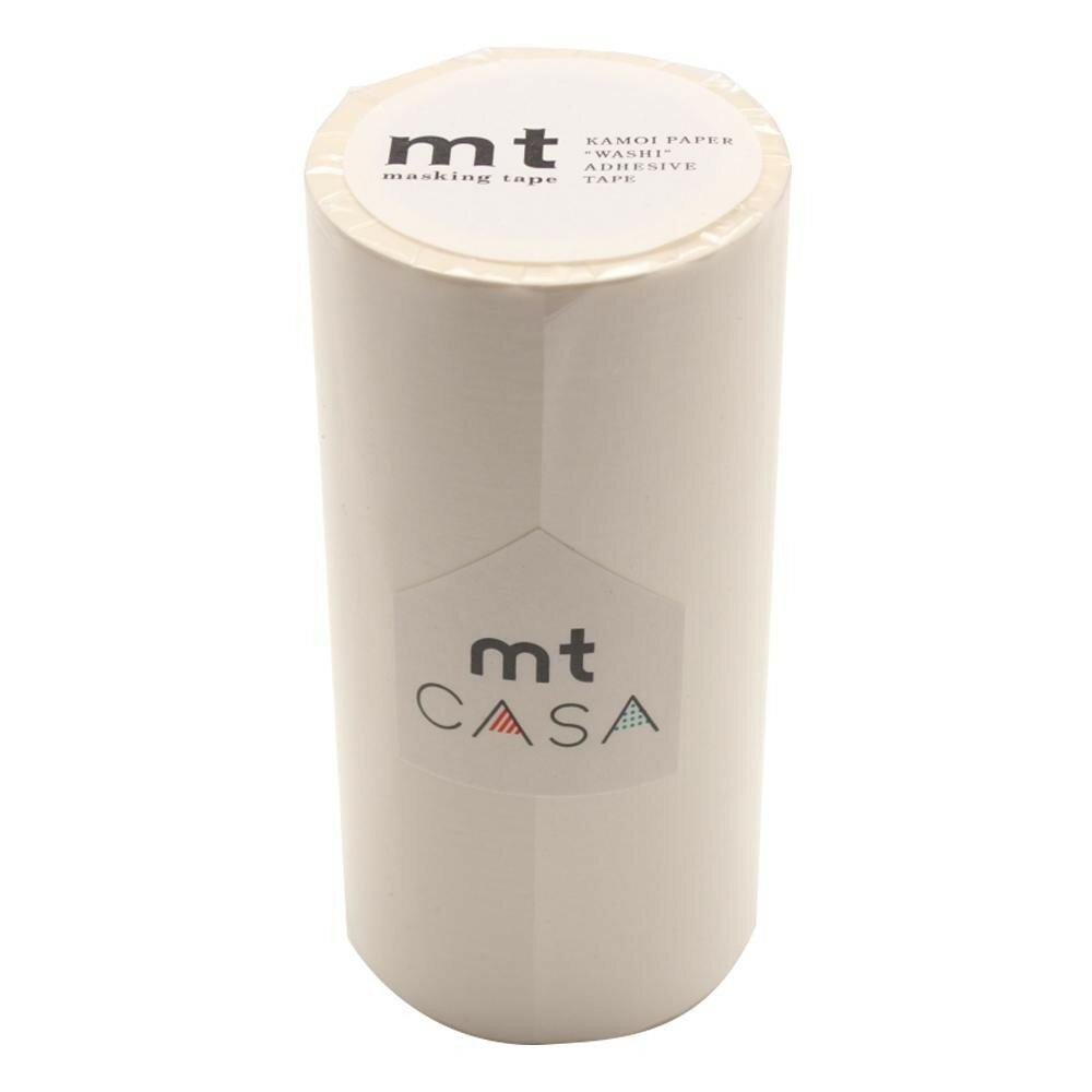 【ネコポス不可】mt CASA マスキングテープ 100mm幅×10m巻き マットホワイト MTCA1086【A】【キャンセル・返品不可】